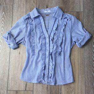 Button down ruffled blouse